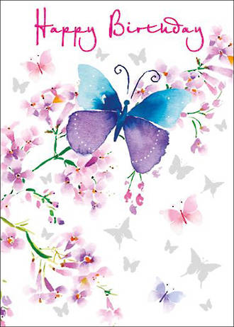 Mini Card Pizazz Birthday Butterfly