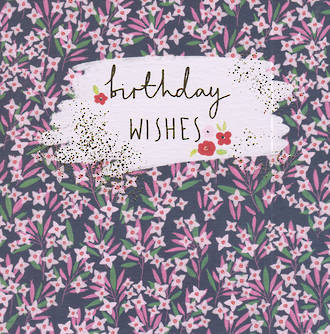 Mulberry Birthday Wishes Pink Flowers