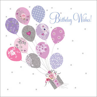 Pizazz Square Wishes Balloons