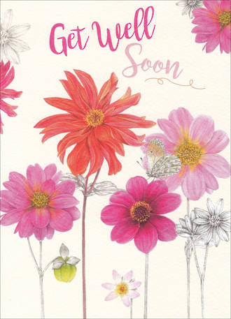 Get Well Card Special Thoughts Flower