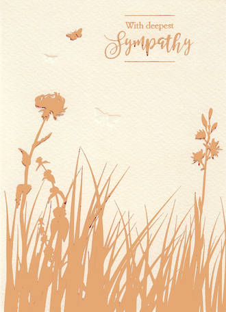 Sympathy Card Special Thoughts Foiled