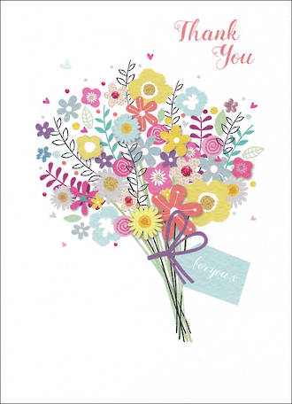 Thank You Card Special Thoughts Bouquet