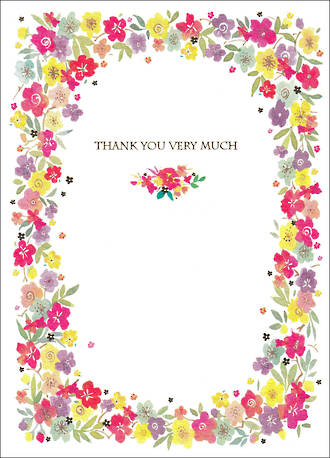 Thank You Card Special Thoughts Floral