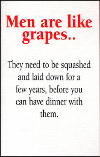 Blank Card Typographic Different Circumstances Men Are Like Grapes