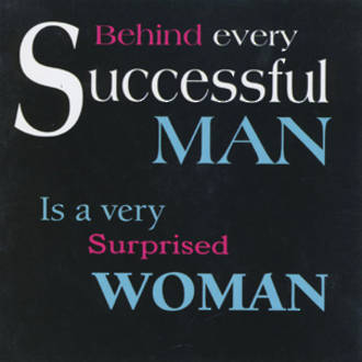 Blank Card Typographic Different Circumstances Surprised Woman
