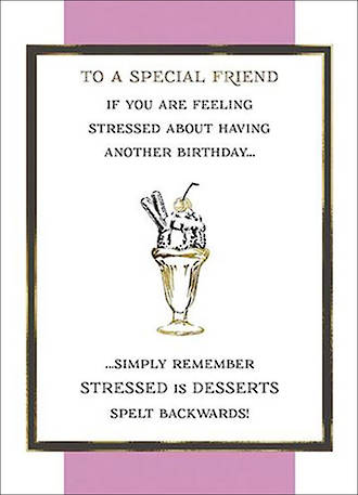 Special Friend Birthday Card Fine Line Desserts