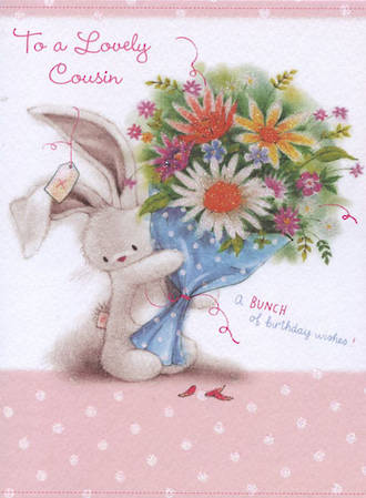 Cousin Birthday Card Bebunni Lovely