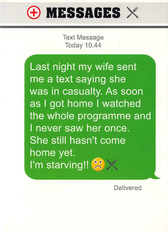 Text Msg Birthday Starving