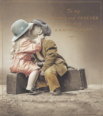 Anniversary Card Our Love Unlimited Kiss