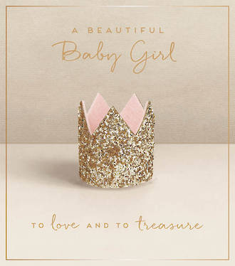 Baby Card Girl Love Unlimited Crown