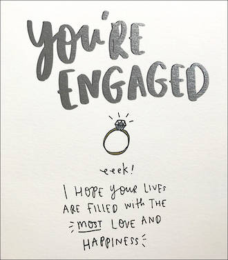 Engagement Card Happy News You're Engaged