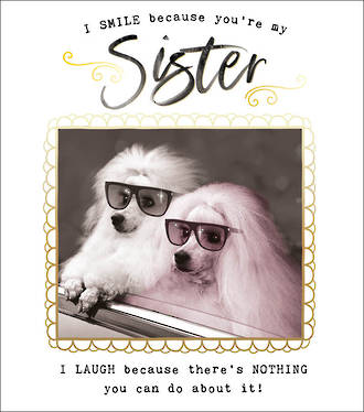 Sister Birthday Card Funny Works 2 Poodles