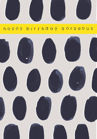 Helsinki Birthday Black Dots