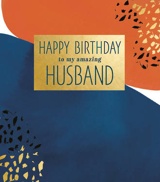 Husband Birthday Card Aura Amazing