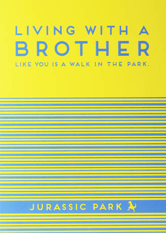 Brother Birthday Card La La Land Living With Brother