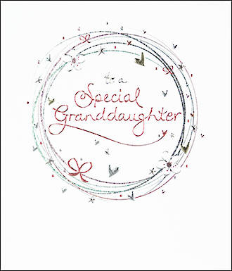 Grandaughter Birthday Card Mimosa Special