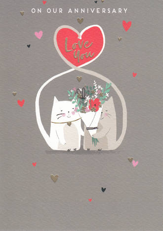 Anniversary Card Our Nutmeg Cats