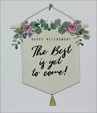 Retirement Card Willow Banner