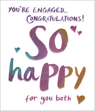 Engagement Card So Happy