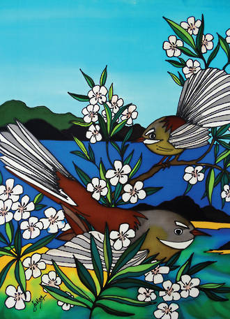 Pure NZ Jo May Fantails & Flowers