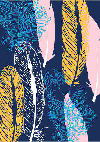 Mini Card Graphic Feathers