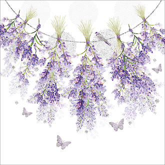 Lunch Napkins Paper Products Hanging Lavender