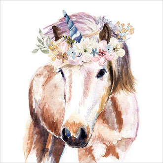 Lunch Napkins Paper Products Pretty Unicorn
