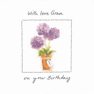Grandmother Birthday Card Avocado With Love
