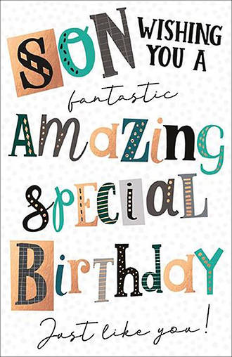 Son Birthday Card Capisco Noir Special Birthday