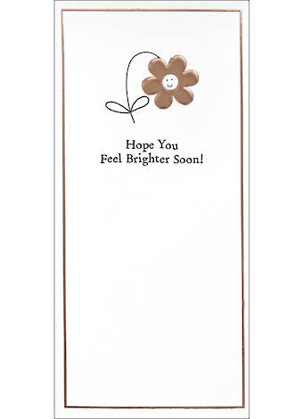 Get Well Card Inca Small Slim Feel Brighter