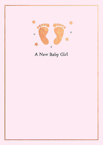 Baby Card Girl Inca Feet