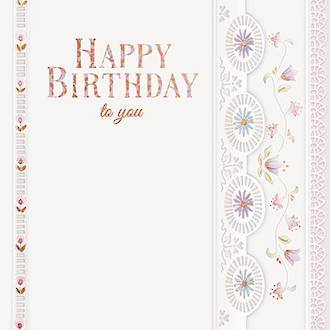 Lovelily Birthday Emboss Lace