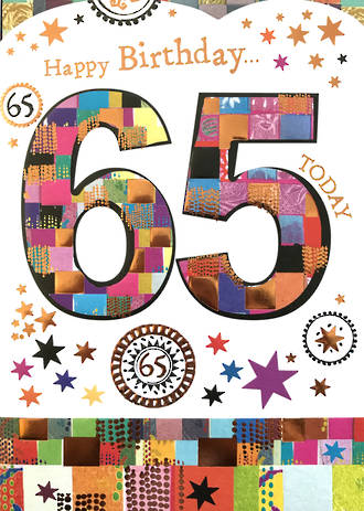Birthday Age Card 65 Female Mosaic
