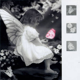 Blank Card Photographic Nero Girl with Fairy Wings