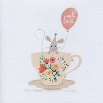 Periwinkle Mouse Cup With Love