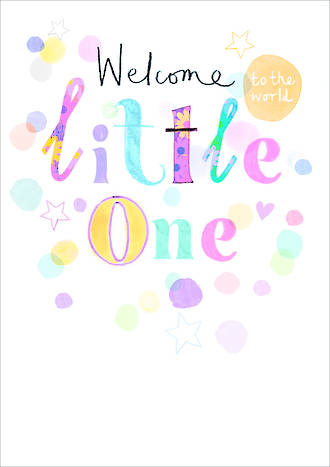 Baby Card Umami Welcome Little One