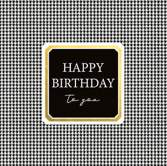 Word For Word Birthday Gingham