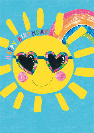Kids' Birthday Card Hoopla Happy Birthday Sun