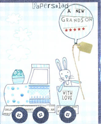Baby Card Grandchild Jelly Pops Grandson