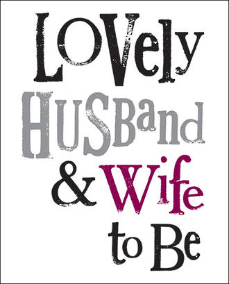 Engagement Card The Bright Side Husband & Wife To Be