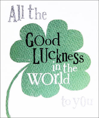 Good Luck Card The Bright Side Clover
