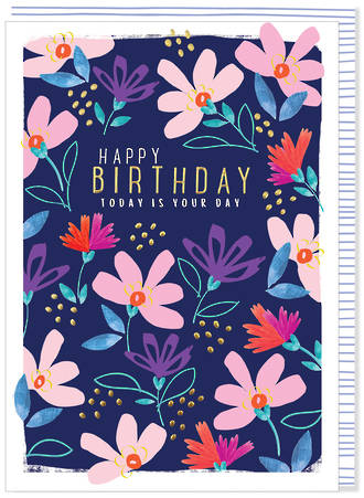 Kirra Birthday Dark Blue Floral