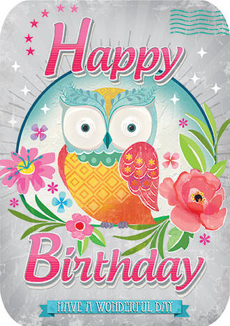 Retro Flair Birthday Owl