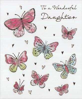 Daughter Birthday Card Wonderful Butterflies