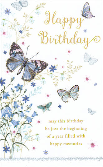 Birthday Card Female Willow Butterflies