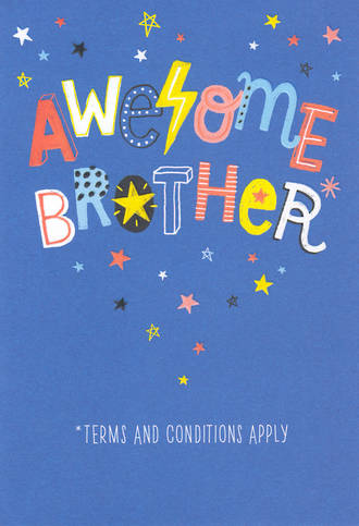 Brother Birthday Card Awesome Stars
