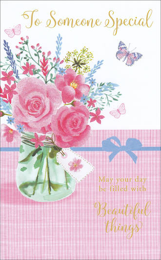 Birthday Card Female Willow Flowers