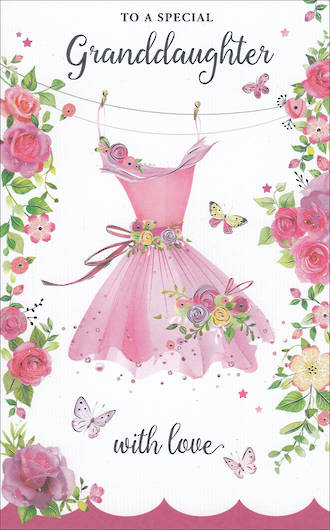 Grandaughter Birthday Card Tall Special