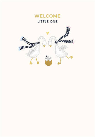 Baby Card Welcome Little One Geese