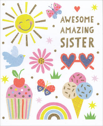 Sister Birthday Card Awesome Amazing